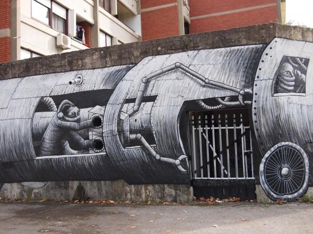 Street art Phlegm 3