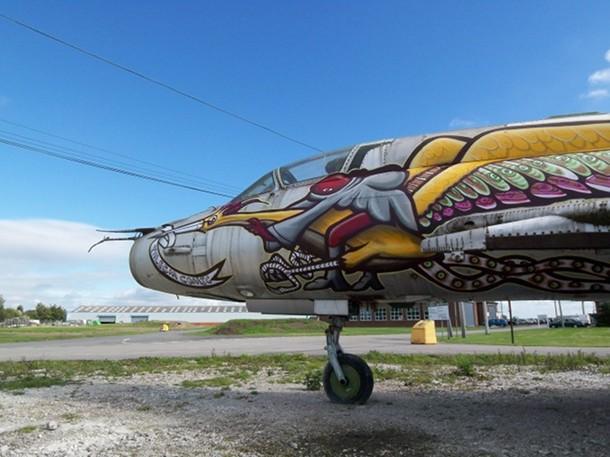 Avion peint à Cardiff, Septembre 2009