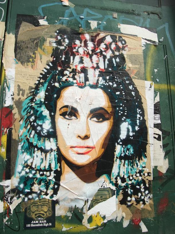 elizabeth Taylor street art