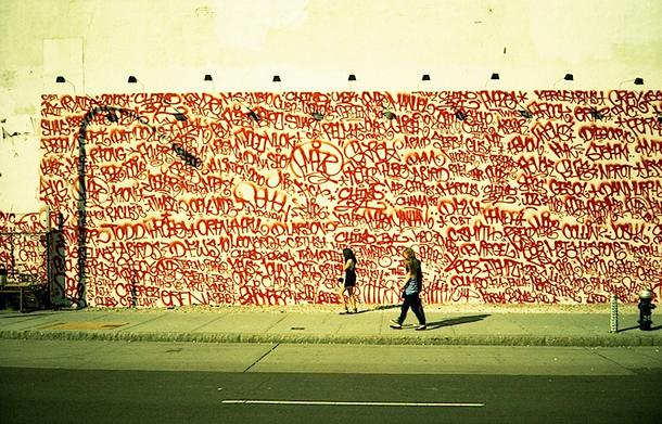 Fresque mural signé Twist