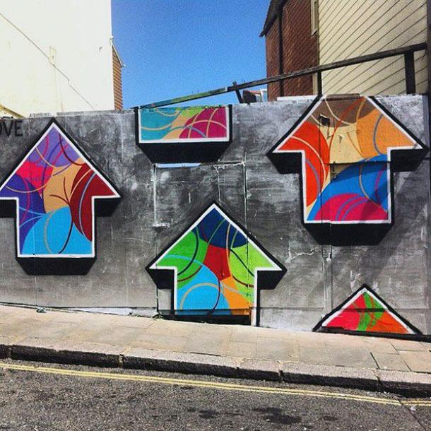 above  street artist californien