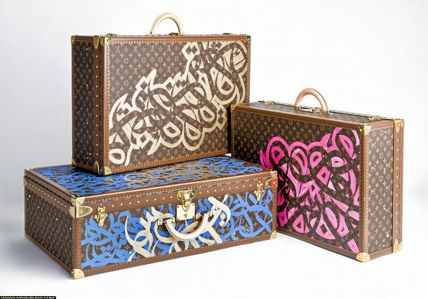 Valises dessinées pour Louis Vuitton.