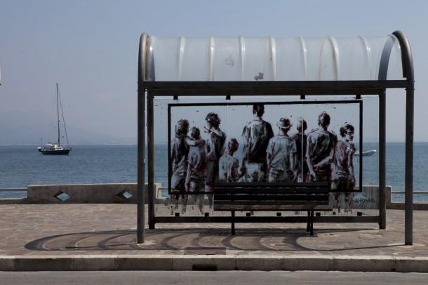 Projet Inattesa pour le Urban Street Art festival de Gaeta, Italie 2013