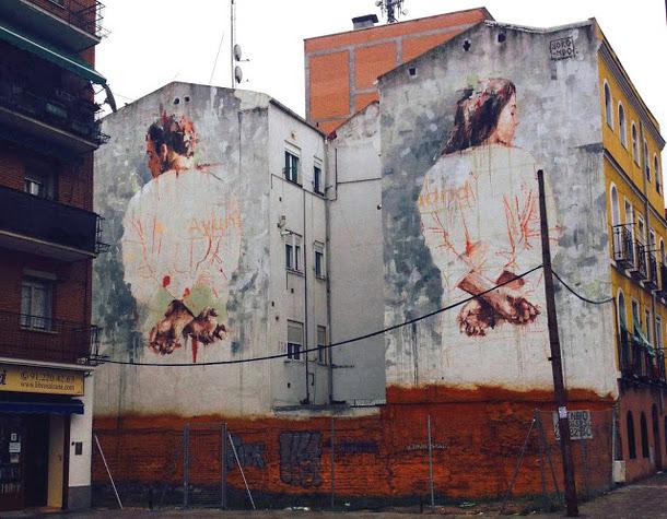 fresque repression mairie madrid