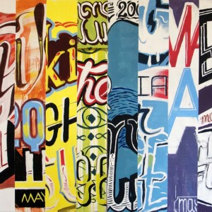 10 Days by Max Rippon - 234 X 170cm, Acrylique & Spray sur toile, 2009