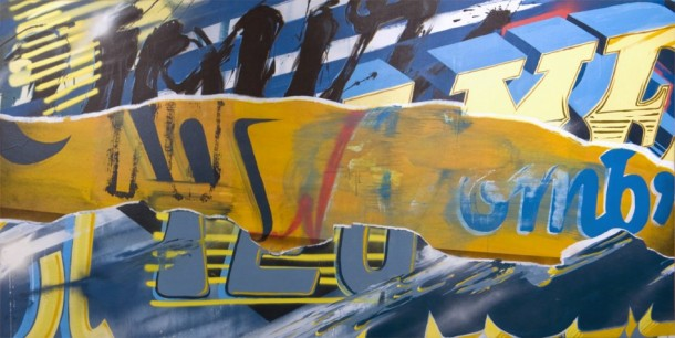 Your Name - 197 x 95cm -Acrylique & Spray sur toile, 2010