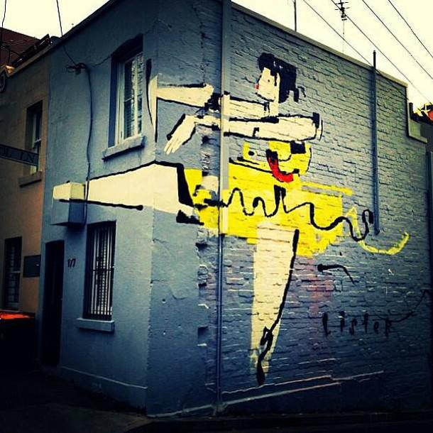 danseuse mur