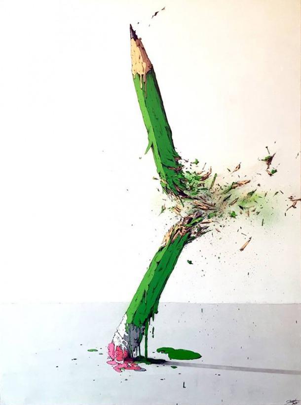 Street art Charlie Hebdo