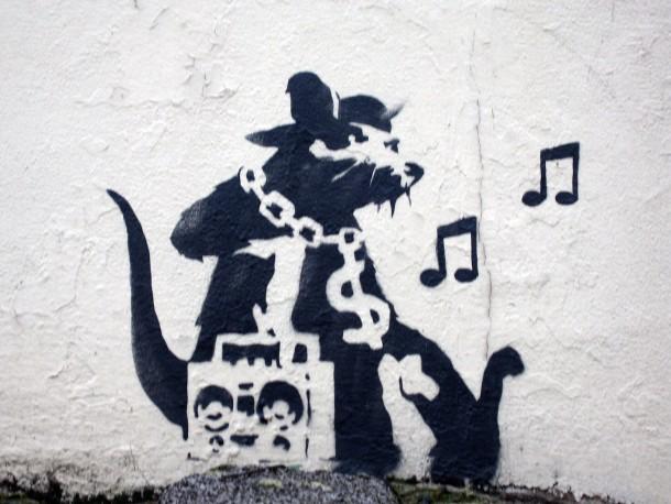 Blek le rat aux sources du street art sur strip art le blog for Banksy rat mural