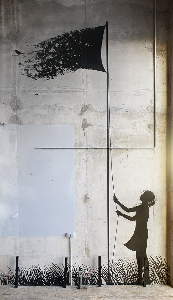 """Pejac """"My Only Flag"""" - Moscou"""