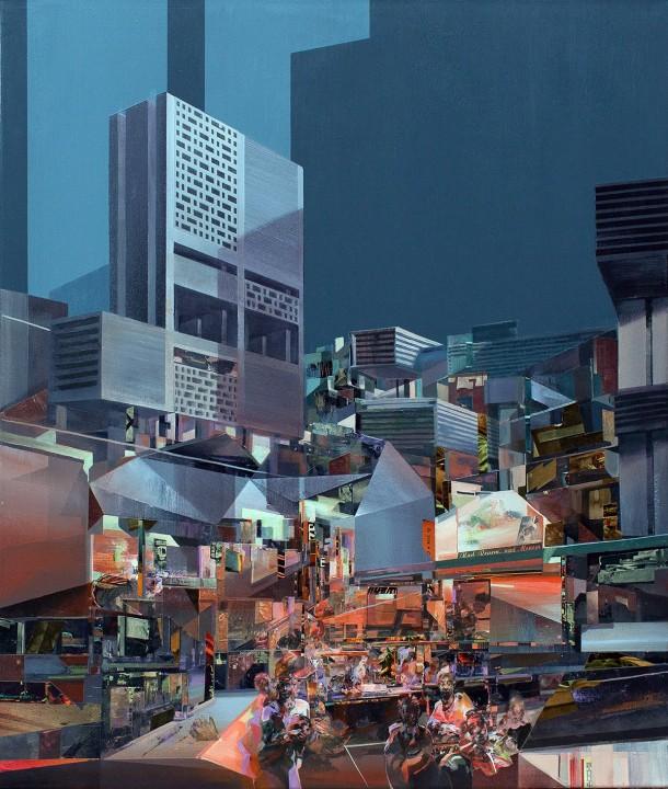 Monolith, Collaboration avec Chazme, 100x85 cm, 2015