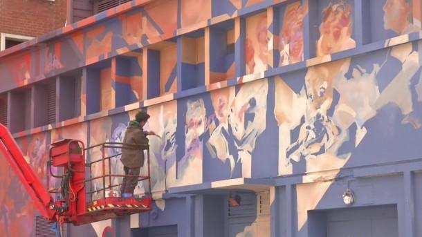 Détail de la fresque Omnia © La chaine normande