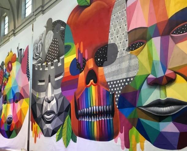 Okuda - Portrait pour la liberté et l'égalité, Milan, Italie, 2015