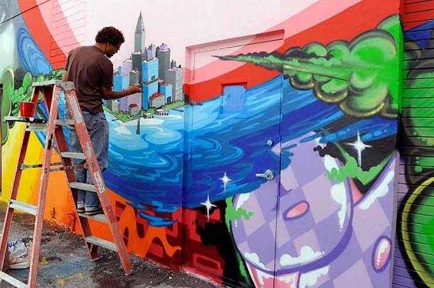 Daze portarit. Wynwood arts disctrict, Miami 2012. © Martha Cooper