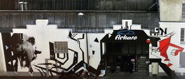 Montreuil Street Art Festival, Salle descalade Arkose, septembre 2015