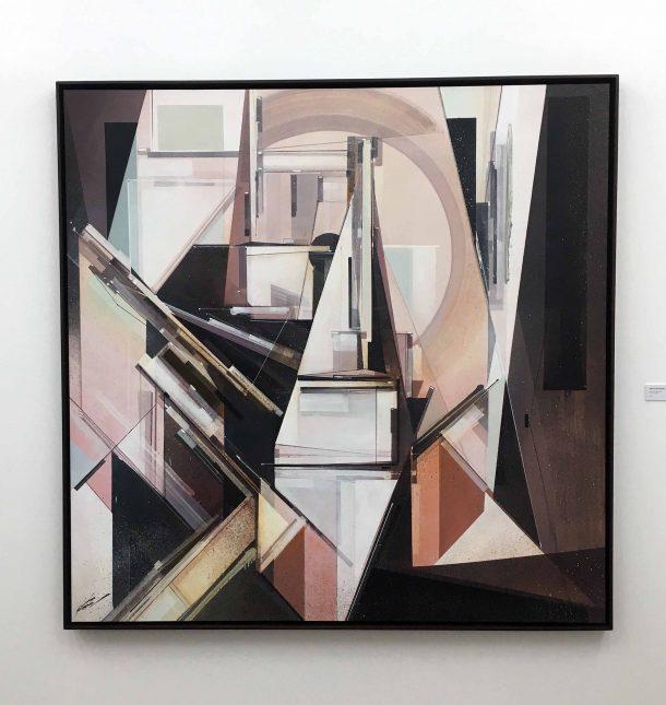 Augustine Kofie, Build from memory - Galerie Openspace, février 2017. ©Strip Art