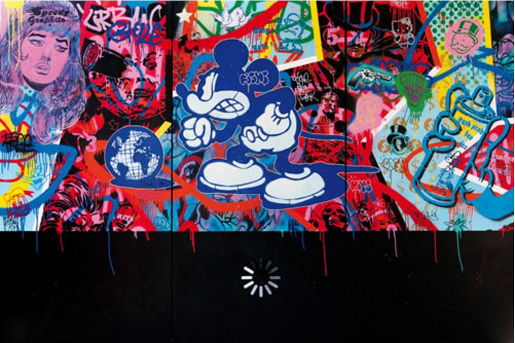 speedy graphito le dj des arts plastiques mixe entre street art culture pop et r f rences. Black Bedroom Furniture Sets. Home Design Ideas