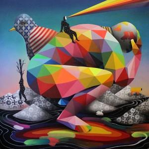 World Reflexions, 111x111cm, Bedford Gallery, L.A. USA, 2015